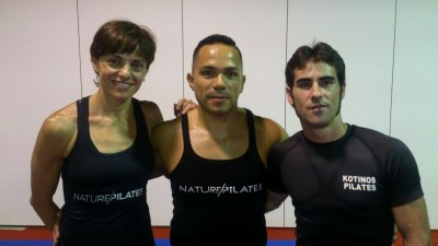 Marcos Barrera con Ricardo Jaramillo. Pilates